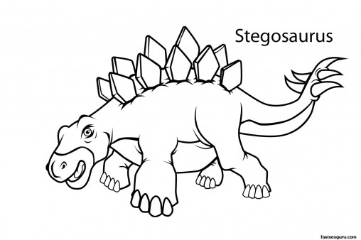 Printable dinosaur stegosaurus coloring pages - Printable ...