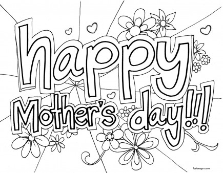 graphic relating to Printable Mothers Day Coloring Page named Printable Joyful Moms Working day Coloring inside sheet - Printable