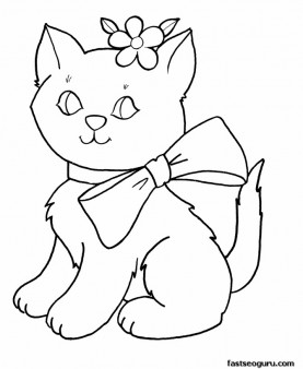 Printable cute kittens for girls coloring pages Printable