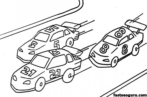 free online racecar coloring pages for kids Printable Coloring