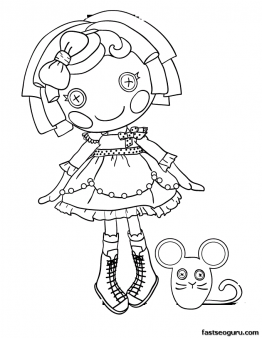 sugar cookie coloring page - crumbs cookie lalaloopsy coloring page printable pages
