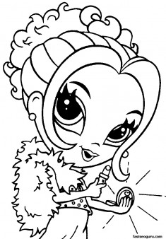 Printable for girls Lisa Frank Coloring Page