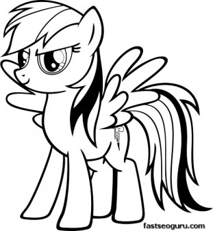 My Little Pony Friendship Is Magic Rainbow Dash coloring pages