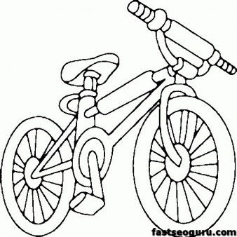 Printable bike BMX coloring page for kids