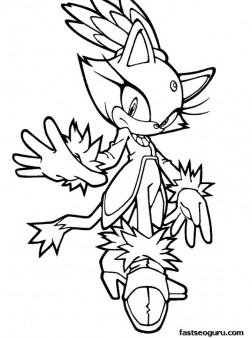 Printable Sonic the Hedgehog Blaze Coloring pages