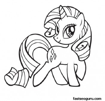 My Little Pony Friendship Is Magic Rarity coloring pages