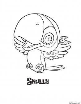 Jake and the Never Land Pirates Skully coloring pages