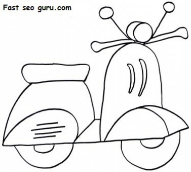 Scooter Coloring Pages on 1148
