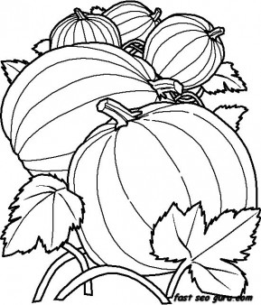 Printable vegetables Pumpkin coloring in pages