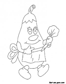 Print out Aubergine colouring in sheet