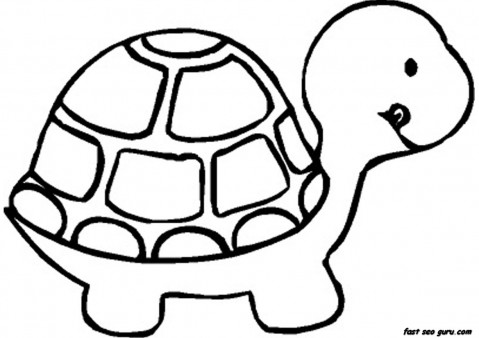Print out Baby Turtle Coloring book Pages Printable Coloring