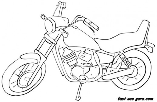 printable race motorbike colouring pages printable