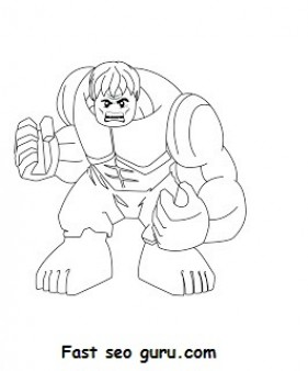 Print out Lego Superheroes Hulk Coloring pages Printable