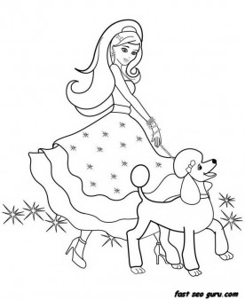 printable beautiful barbie coloring pages - Printable Barbie Coloring Pages