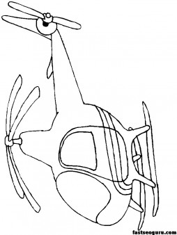 Print out childrens coloring pages Helicopters