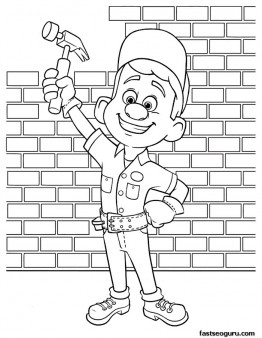 Printable wreck it ralph felix with his magic hammer - Coloriage ralph la casse ...