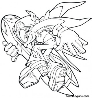 Printable Sonic the Hedgehog Wave Coloring pages Printable