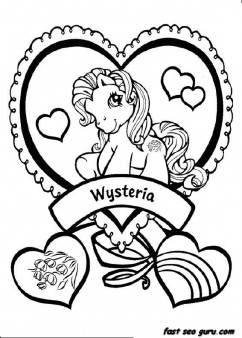 Printable my little pony wysteria coloring pictures