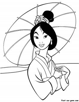 Printable characters Mulan Coloring Pages