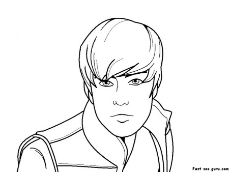 Printable justin bieber coloring pages