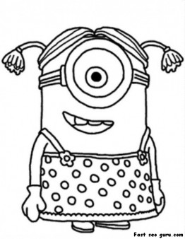 Printable disney Minions Coloring Page for kids  Printable