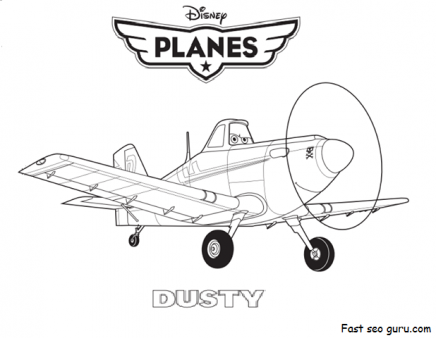 Printable Disney Planes dusty coloring