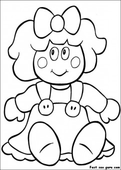 Printable cut doll coloring pages for girls