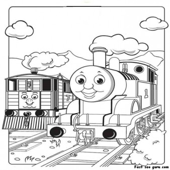 Print Out Pictures Of Toby The Tram Engine Thomas Train And Friends Coloring Pages For