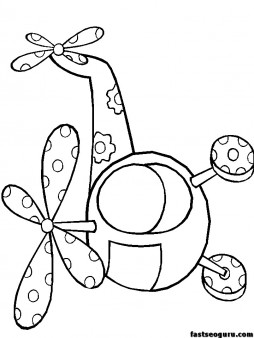 Print out coloring pages Helicopters