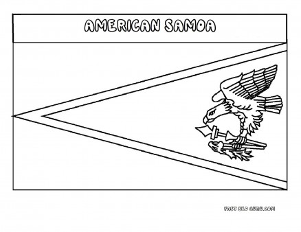 Printable flag of americansamoa coloring page