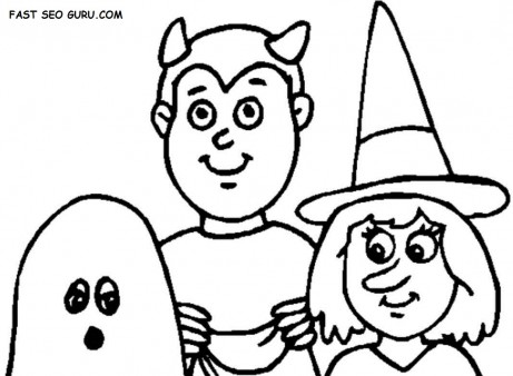 Halloween Kids Vampire costume coloring Pages
