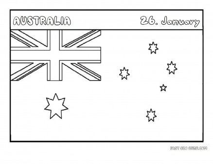 Printable flag of australia coloring