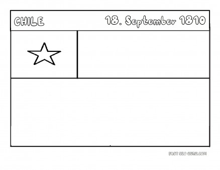 Printable Flag of chile coloring page
