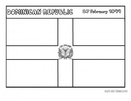 Printable flag of dominicanrepublic