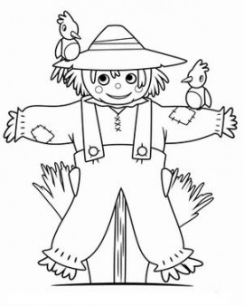graphic relating to Scarecrow Printable named Printable thanksgiving Scarecrow Coloring Web page - Printable