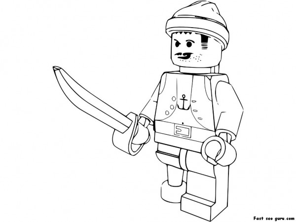Printable pirate lego coloring in sheets for boy ...