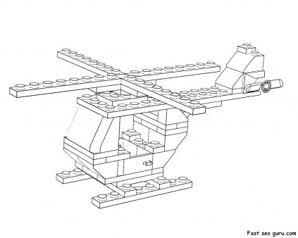 printable lego helicopter coloring page