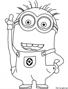 printable disney two eyed minion despicable me 2 coloring pages - Printable Coloring Pages Disney