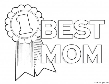 Printable Happy Mothers Day Coloring Pages
