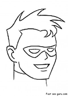printable superheroes Robin coloring pages