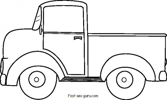 - Pick Up Truck Coloring Pages To Print