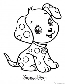 printable cinnapup strawberry shortcake coloring pages - Strawberry Shortcake Coloring Pages