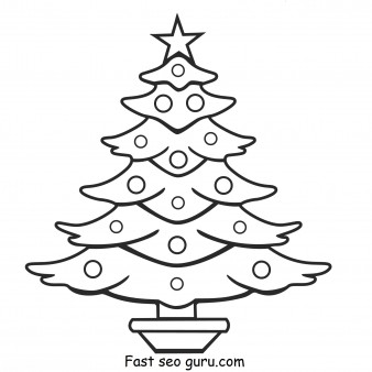 Print out christmas tree coloring pages
