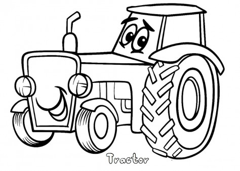 Print out tractor coloring pages printable coloring for Tractor coloring pages to print