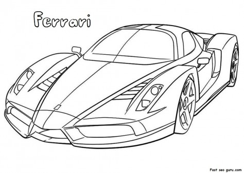 Printable Ferrari Coloring Pages Printable Coloring