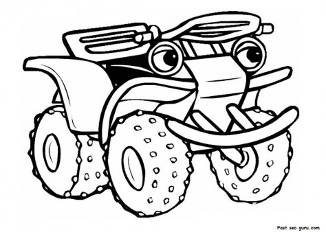 Printable atv Tractor Coloring Pages Printable Coloring Pages