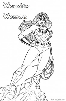 Wonder Woman Superhero Coloring Pages Printable