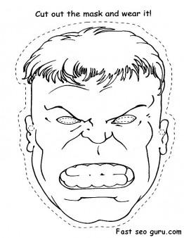 Printable Superheroes Hulk face