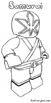 Printable Lego power rangers Samurai coloring pages