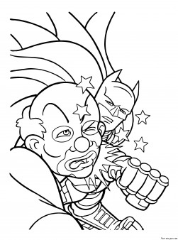 printable superheros batman and joker coloring page